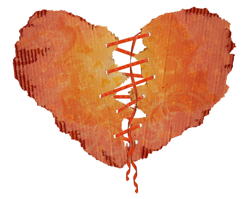 Papel del corazón con un burocrático ilustración del vector