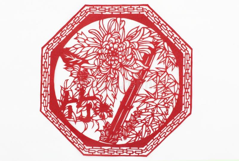 Papel del corte de China a mano foto de archivo libre de regalías