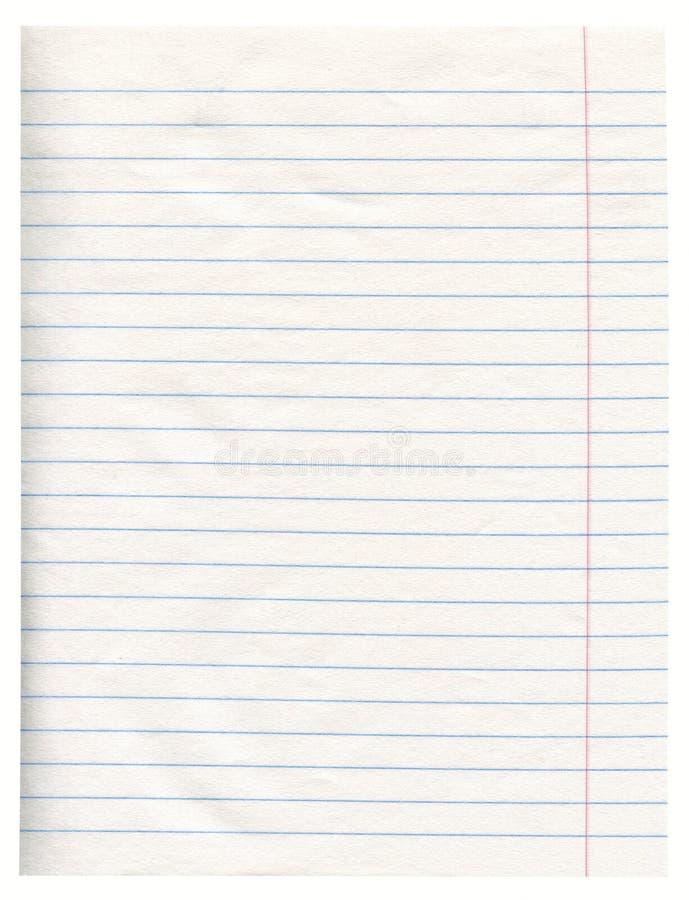 Papel del cuaderno fotos de archivo