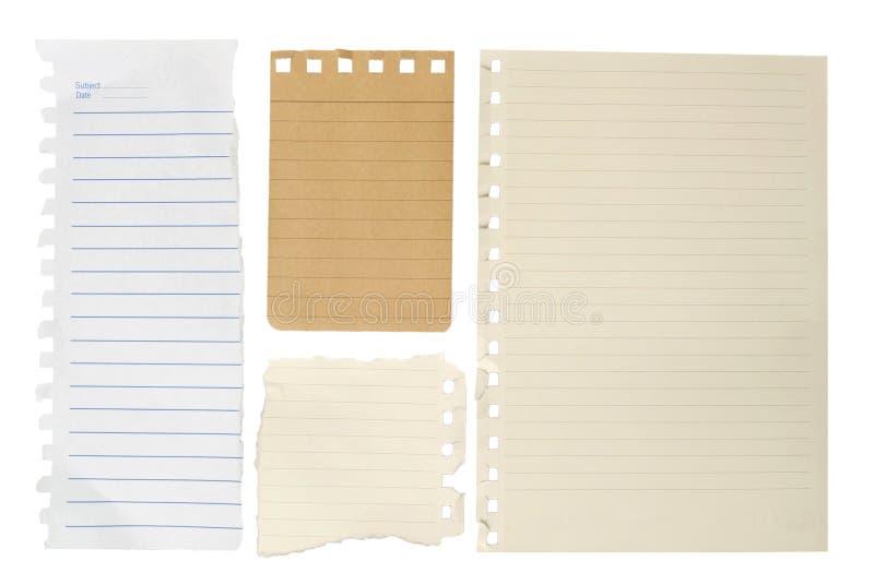 Papel del cuaderno fotografía de archivo