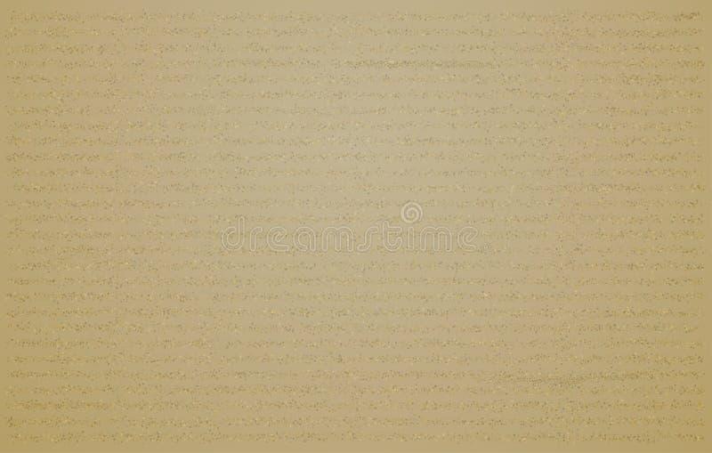 Papel del grunge de la cartulina que envuelve el fondo marrón sucio resistido retro stock de ilustración