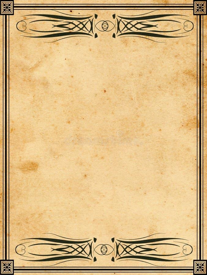 Papel del libro de la vendimia stock de ilustración