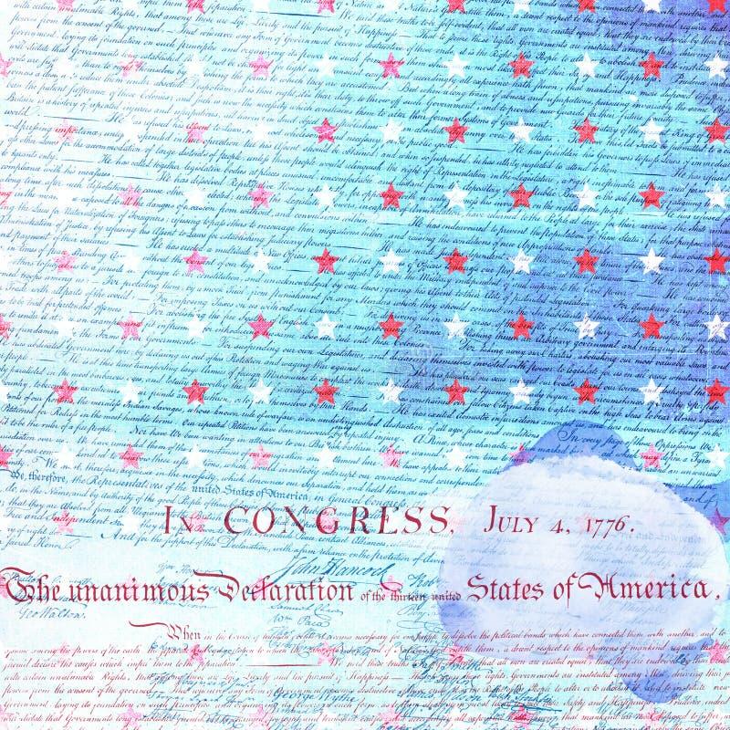 Papel del libro de recuerdos de la independencia de los E.E.U.U. imagen de archivo