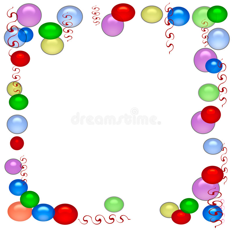 Papel del partido del globo ilustración del vector