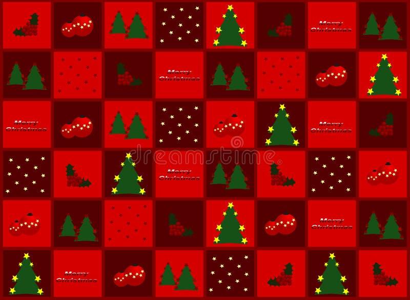 Papel del regalo de la Navidad ilustración del vector
