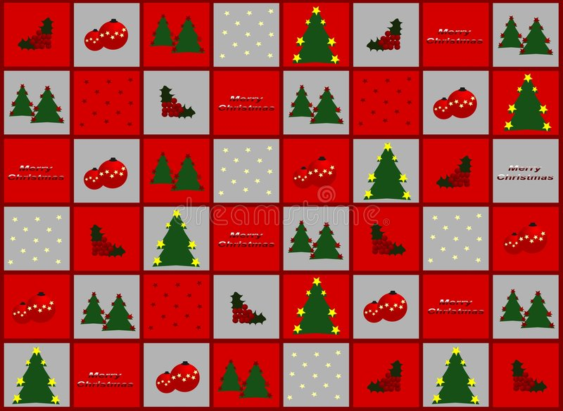 Papel del regalo de la Navidad stock de ilustración