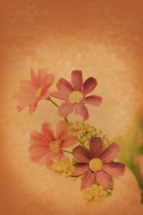 Papel del vintage de la flor fotografía de archivo libre de regalías