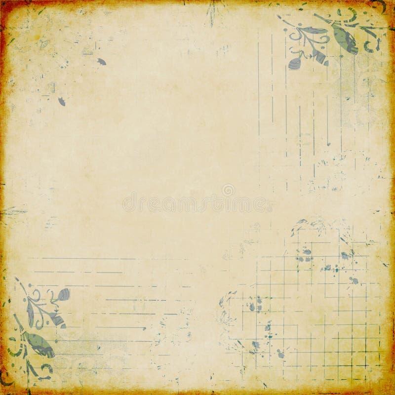 Papel descolorado con diseño estampado fotografía de archivo