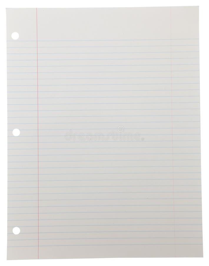 Papel do caderno no branco fotos de stock royalty free
