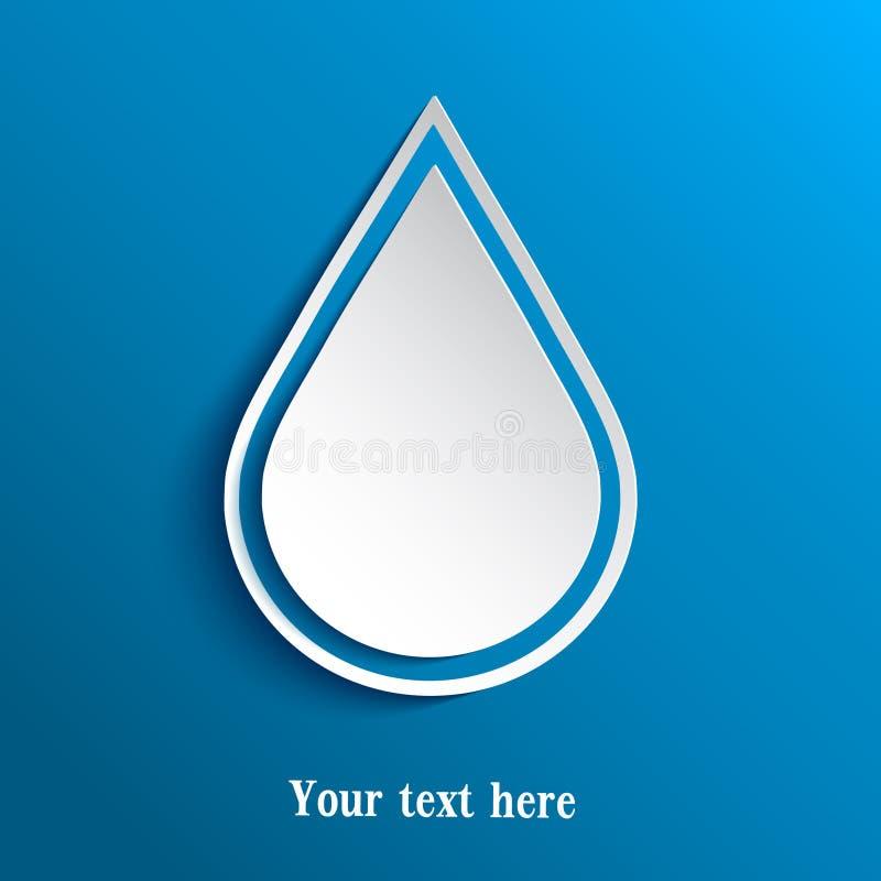 Papel do entalhe da gota da água ilustração stock
