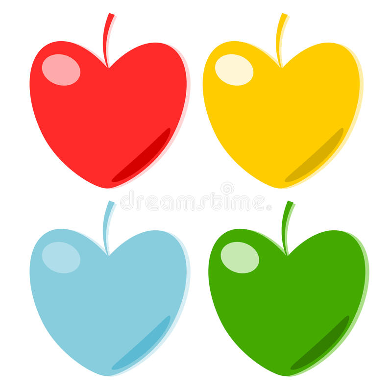 Papel do fruto do coração   ilustração stock