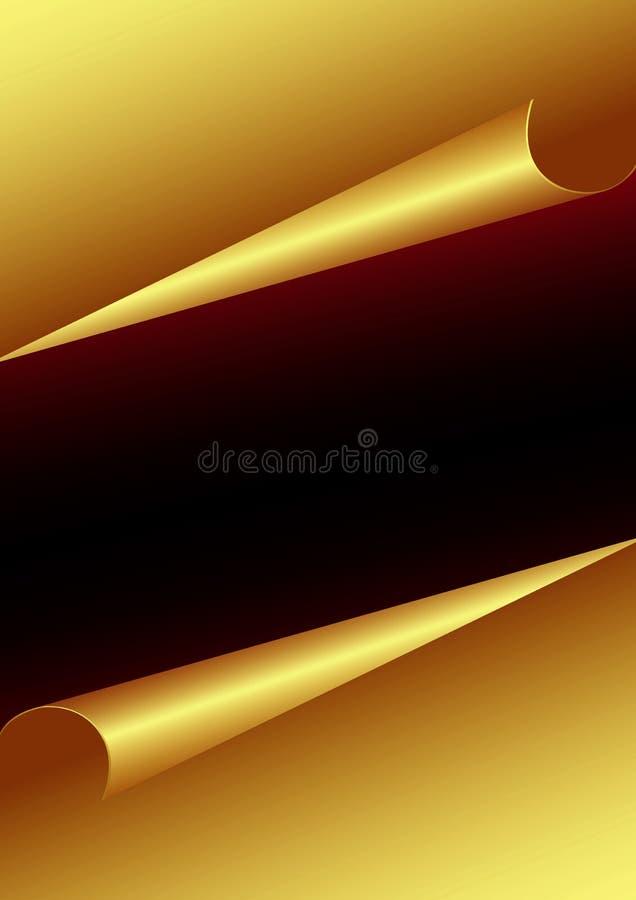 Papel do ouro ilustração royalty free