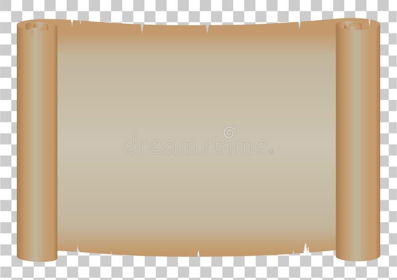 Papel do rolo no fundo transparente; Gráficos do recurso; copie o sp ilustração royalty free