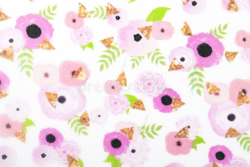 Papel do teste padrão de flores para o lenço de superfície do papel de embrulho da cópia das tampas das suficiências de teste pad fotos de stock royalty free