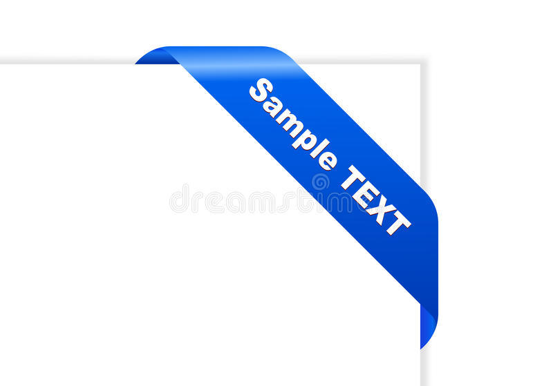 Papel do vetor com fita azul ilustração do vetor