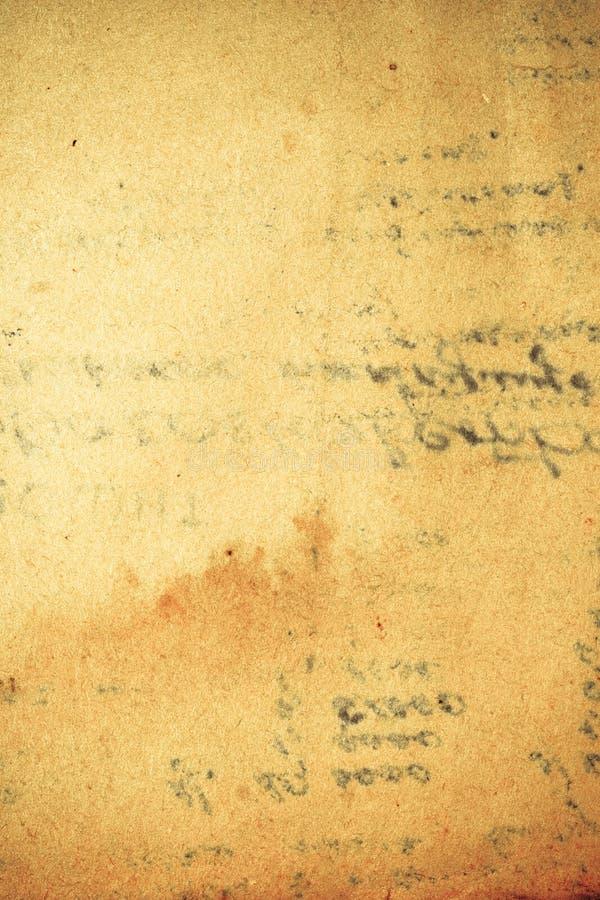 Papel do vintage com imprint do texto fotografia de stock