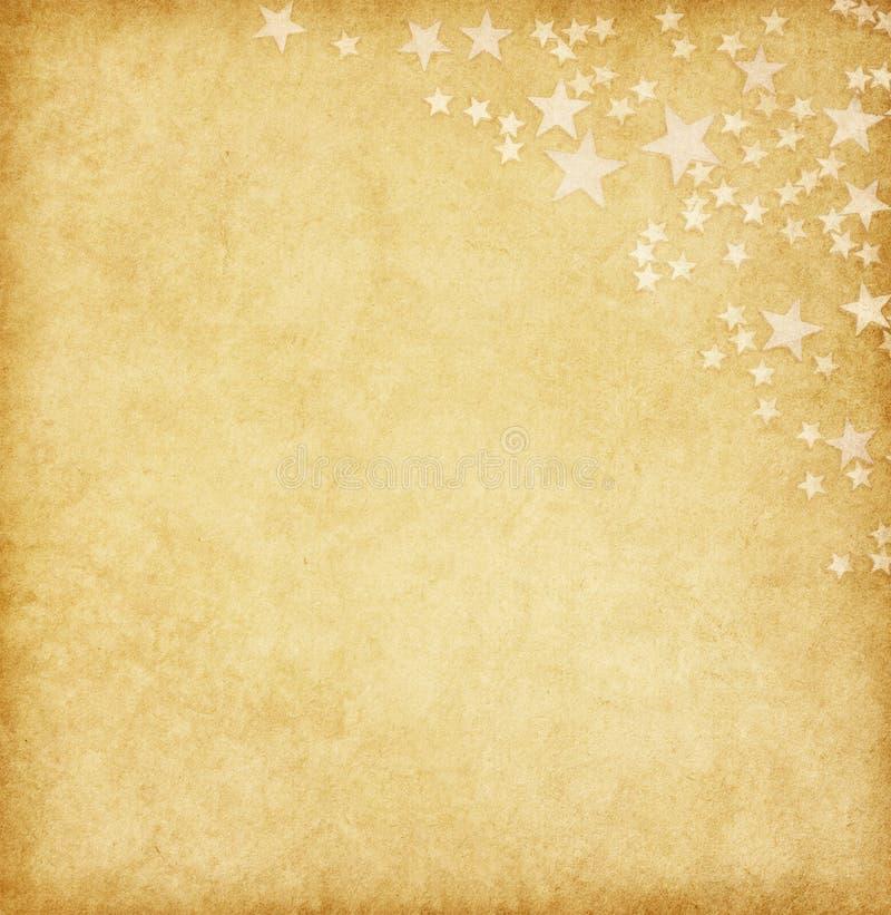 Papel do vintage decorado com estrelas fotos de stock