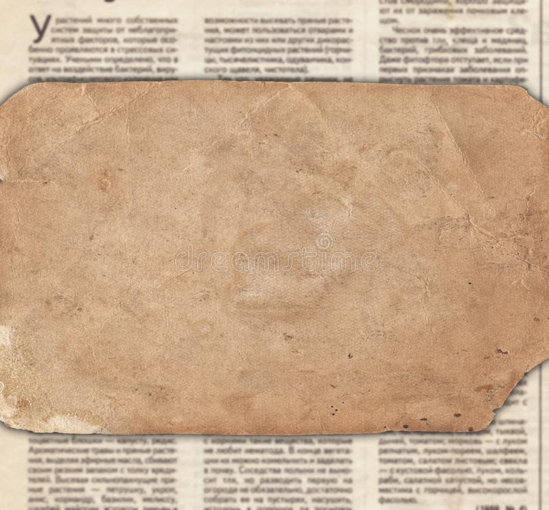 Papel do vintage na textura velha do jornal foto de stock