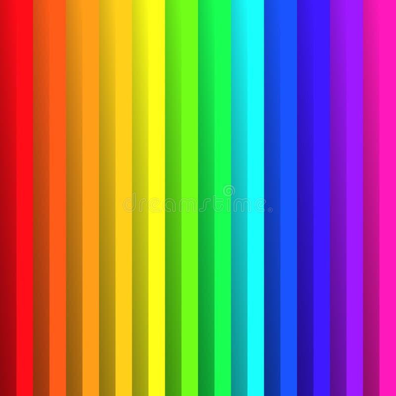 Papel dobrado nas cores do espectro do arco-íris Com efeito de sombra Papel de parede abstrato feliz do fundo do vetor ilustração stock