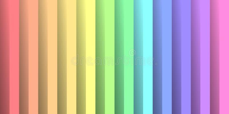 Papel dobrado nas cores do espectro do arco-íris Com efeito de sombra Papel de parede abstrato feliz do fundo do vetor ilustração royalty free