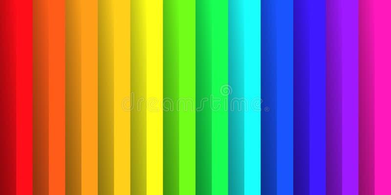 Papel dobrado nas cores do espectro do arco-íris Com efeito de sombra Papel de parede abstrato feliz do fundo do vetor ilustração do vetor