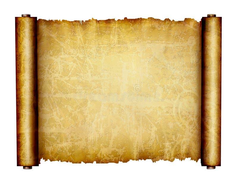 Papel dourado do grunge ilustração royalty free