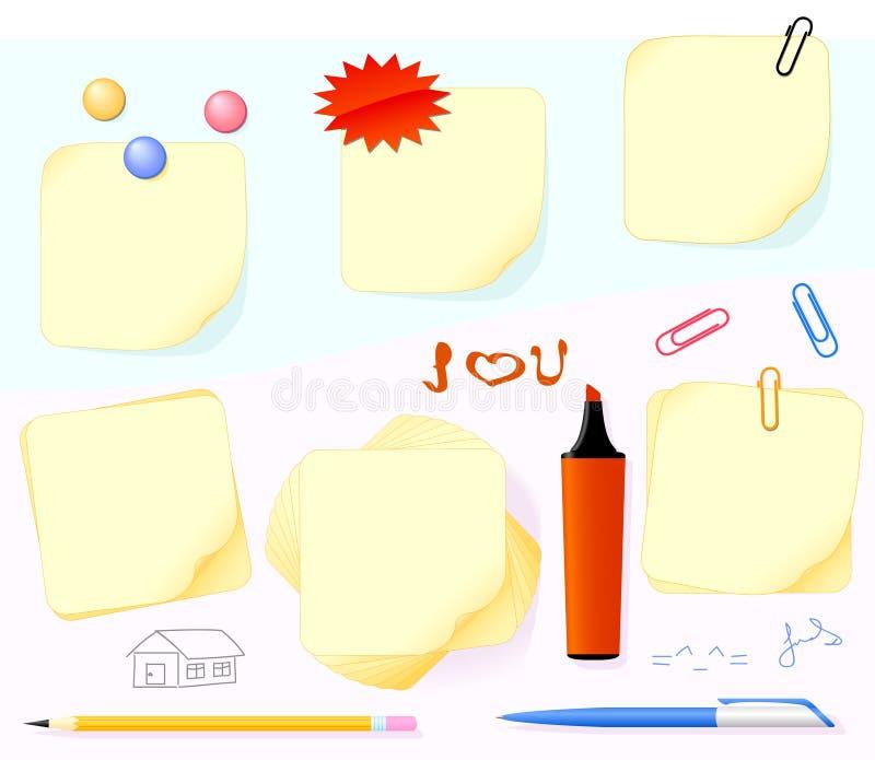 Papel e artigos de papelaria ilustração stock