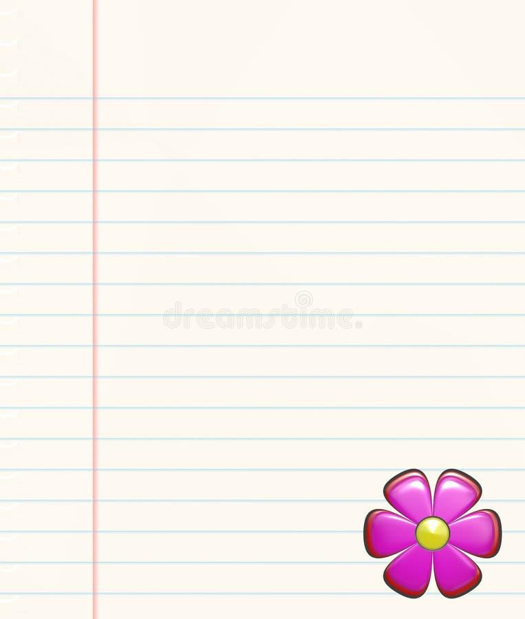 Papel e flor no livro ilustração stock