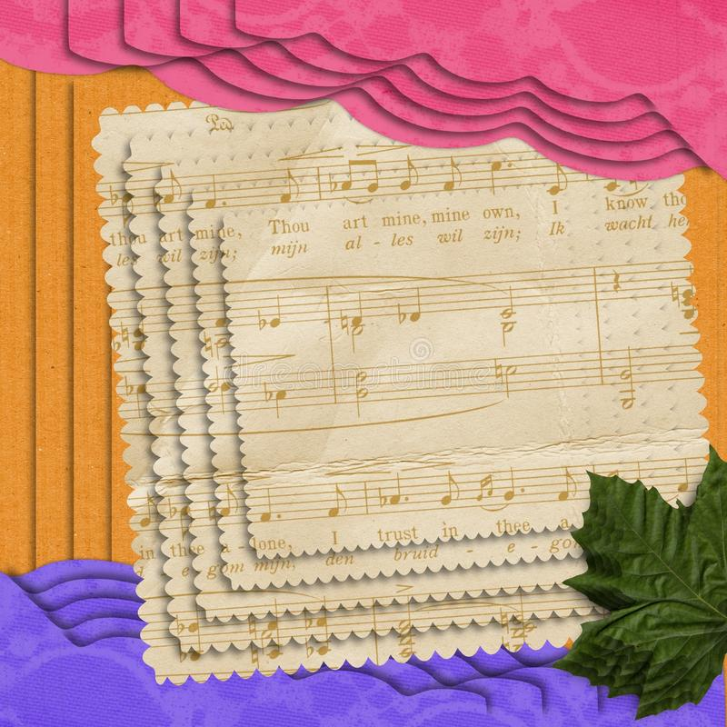 Papel de música de estratificação abstrato ilustração do vetor