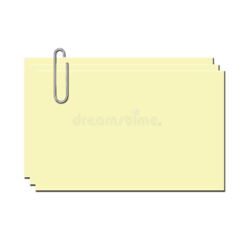 Papel e grampo ilustração royalty free