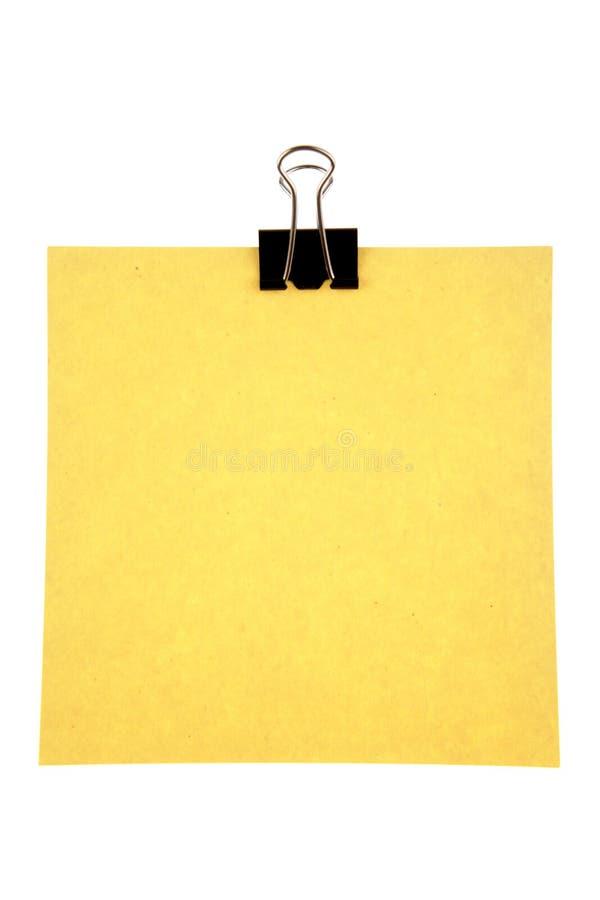 Papel e grampo fotografia de stock