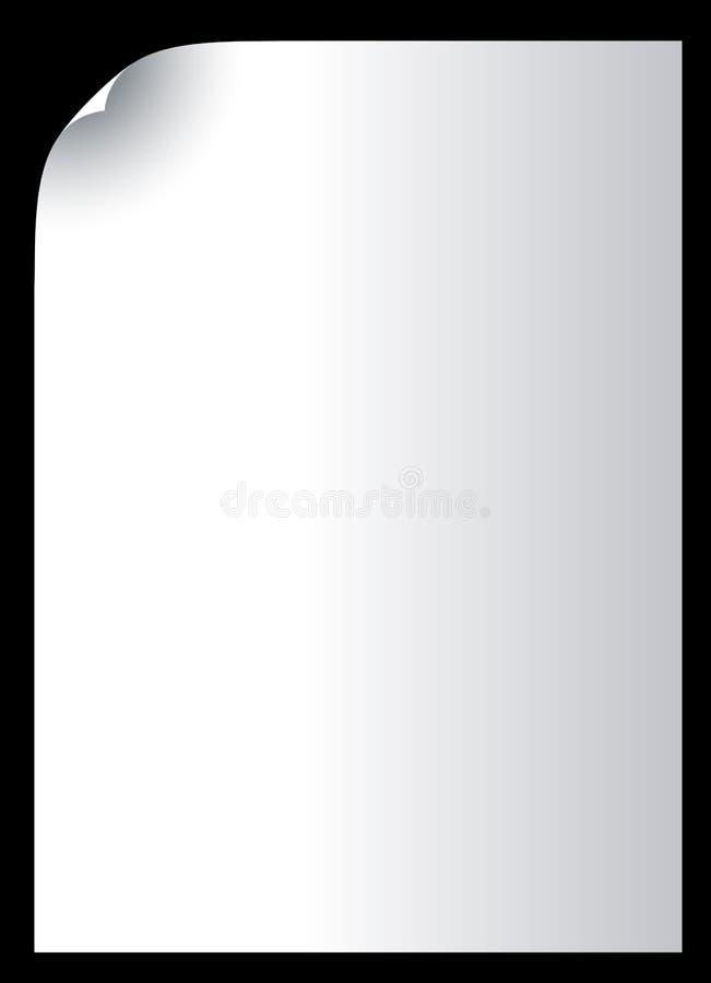 Papel em branco ilustração stock