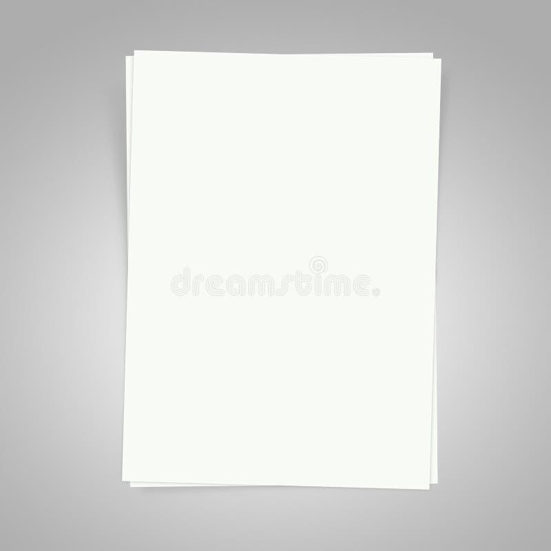 Papel en blanco foto de archivo