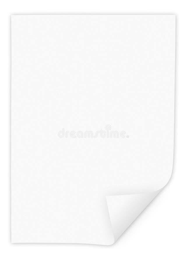 Papel en blanco fotos de archivo libres de regalías