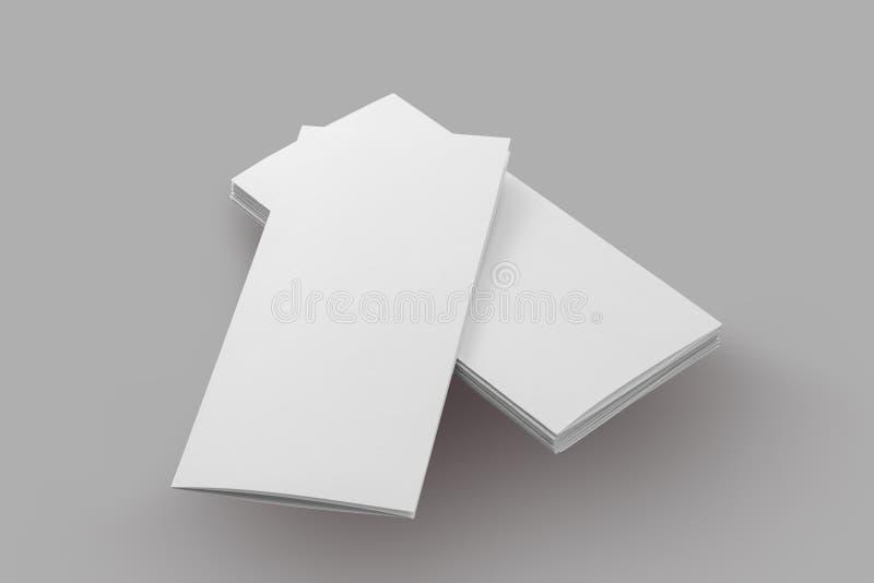 Papel en blanco del folleto imágenes de archivo libres de regalías