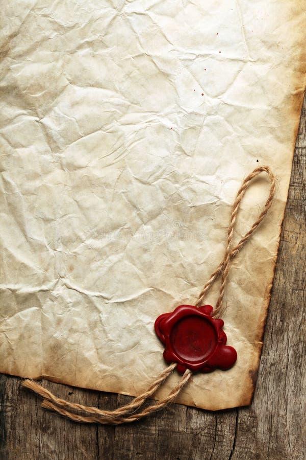 Papel en blanco viejo foto de archivo libre de regalías