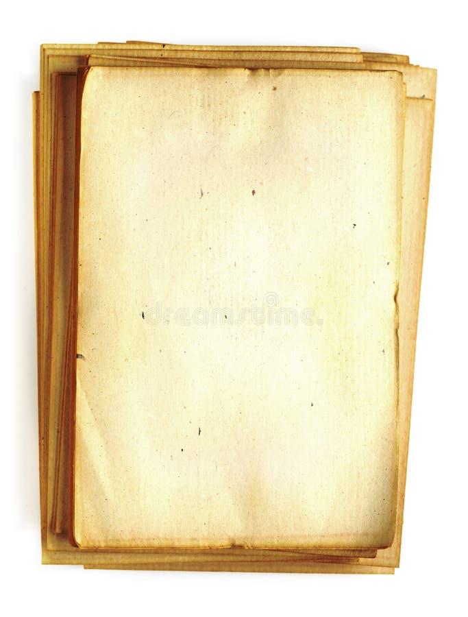 Papel en blanco viejo fotos de archivo