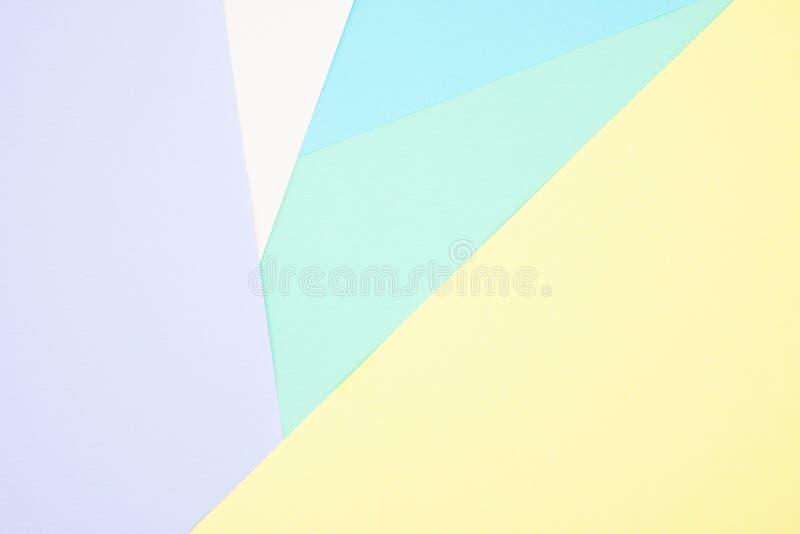 Papel en colores pastel colorido creativo abstracto para el fondo Espacio para el texto y las imágenes imágenes de archivo libres de regalías
