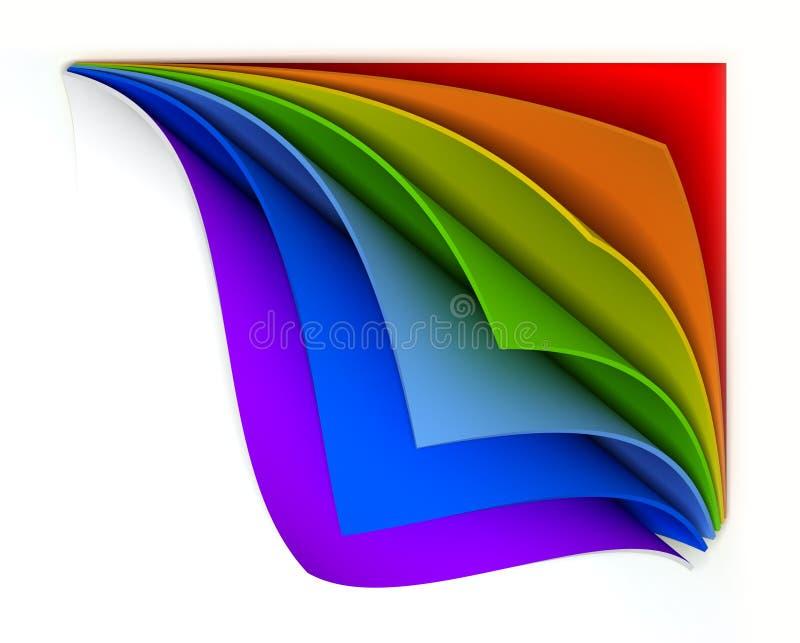 Papel encrespado del arco iris ilustración del vector