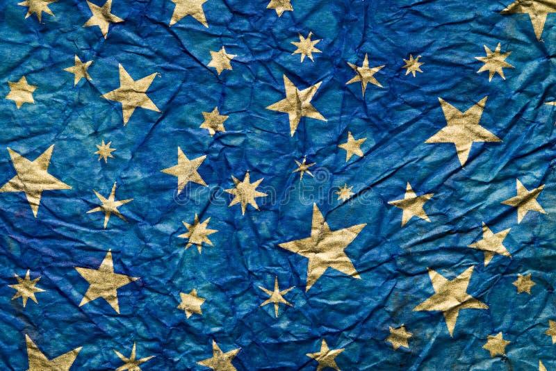 Papel enrugado estrelas foto de stock