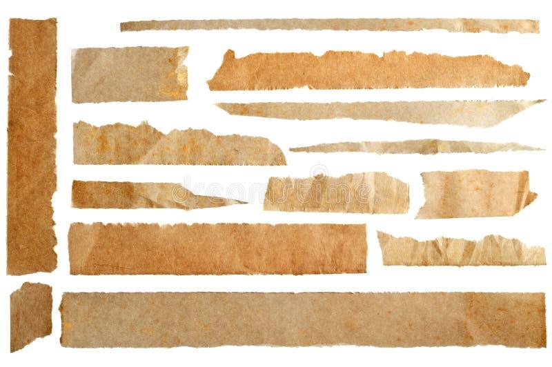 Papel envelhecido rasgado imagens de stock