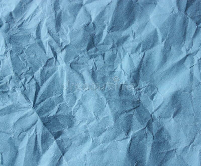 Papel esmagado azul fotografia de stock royalty free