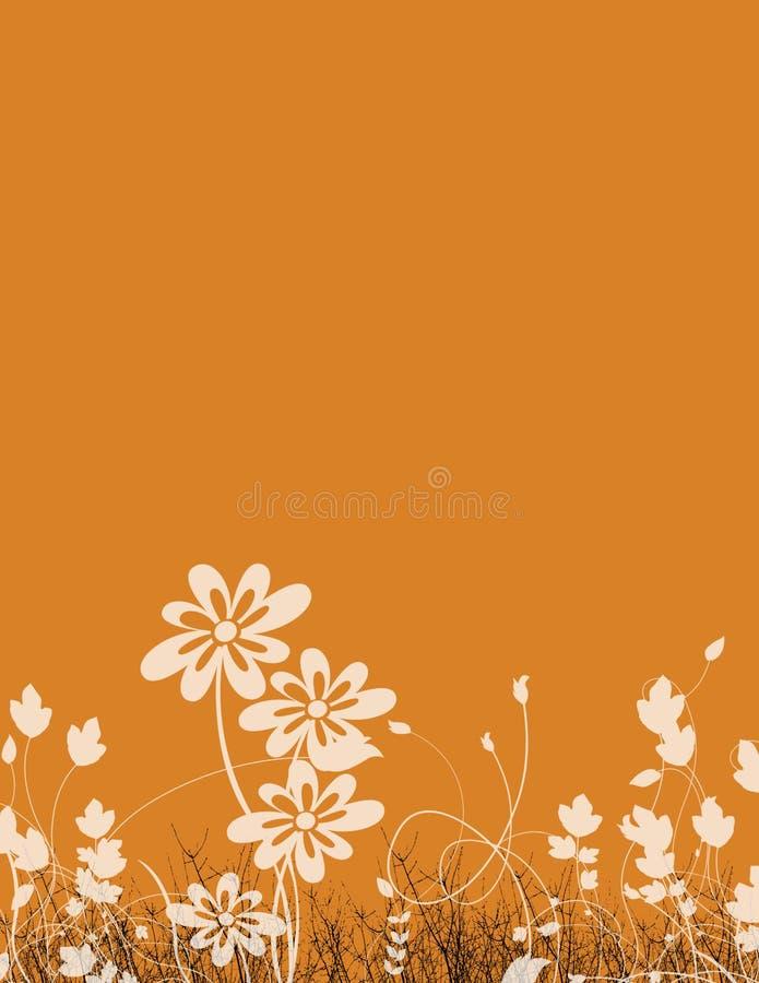 Papel floral stock de ilustración