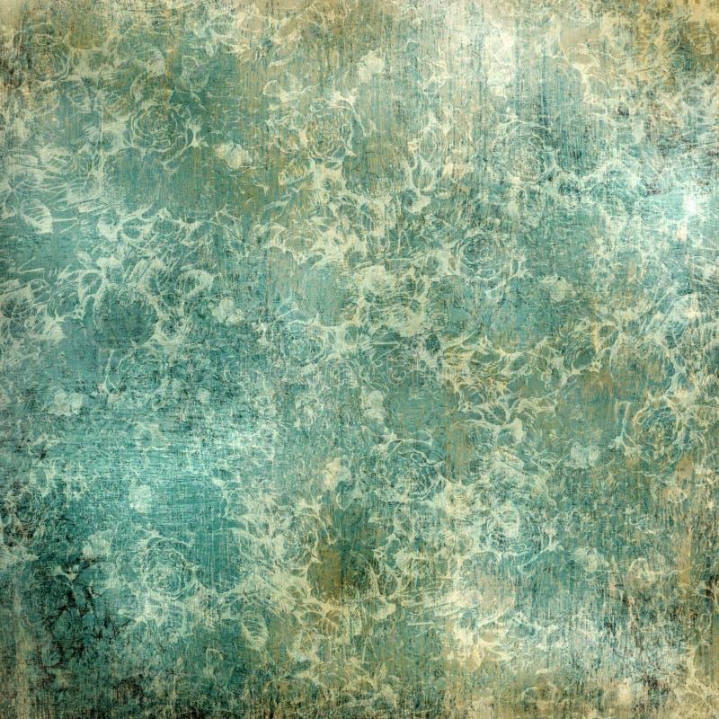 Papel floral de Grunge de la vendimia imagenes de archivo