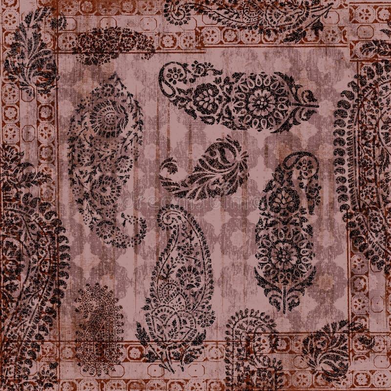 Papel floral de Grunge do vintage imagem de stock royalty free