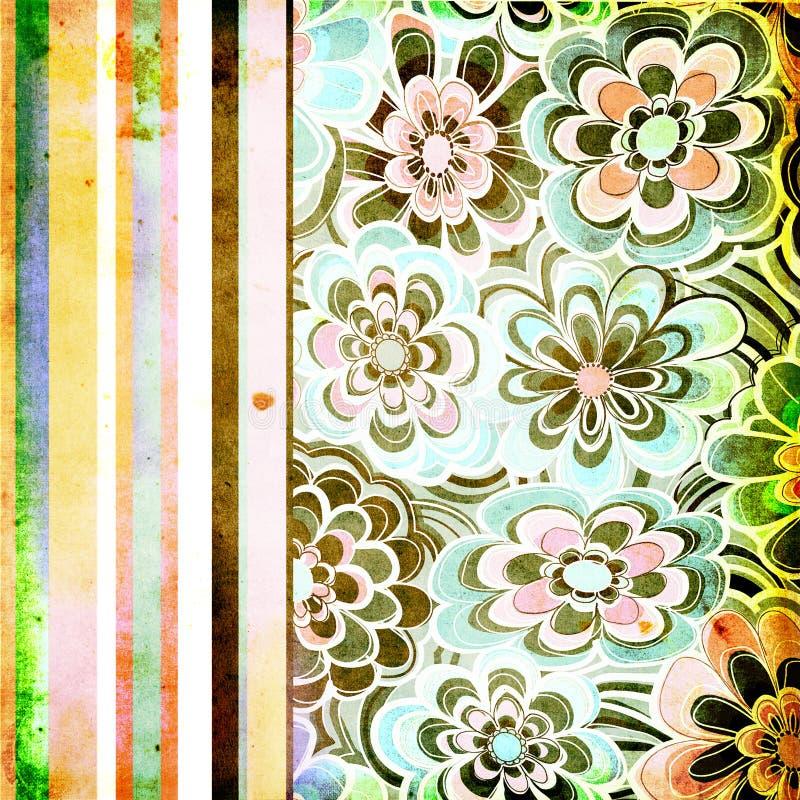 Papel floral do vintage ilustração stock