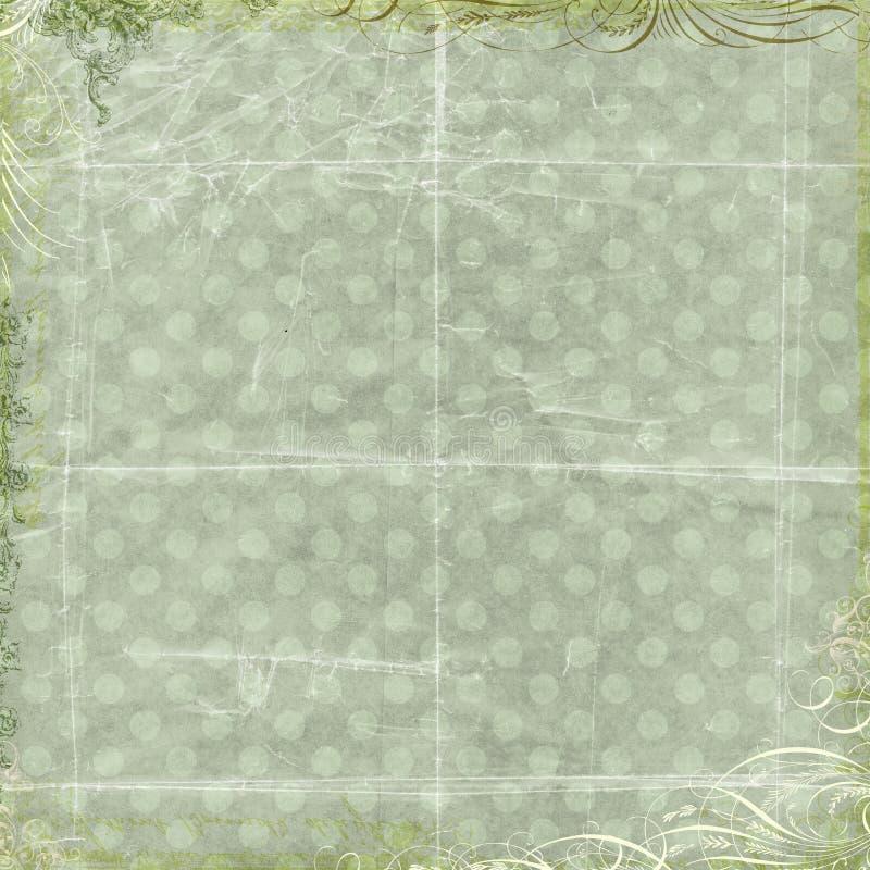 Papel floral verde del libro de recuerdos del fondo del amor fotos de archivo libres de regalías