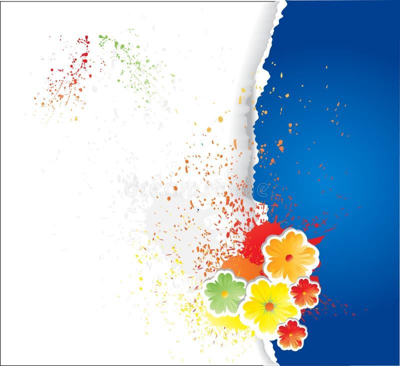 papel fragmentário com flores ilustração royalty free