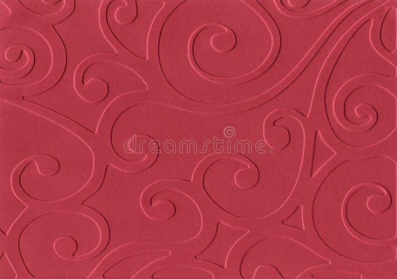 Papel gravado vermelho fotografia de stock