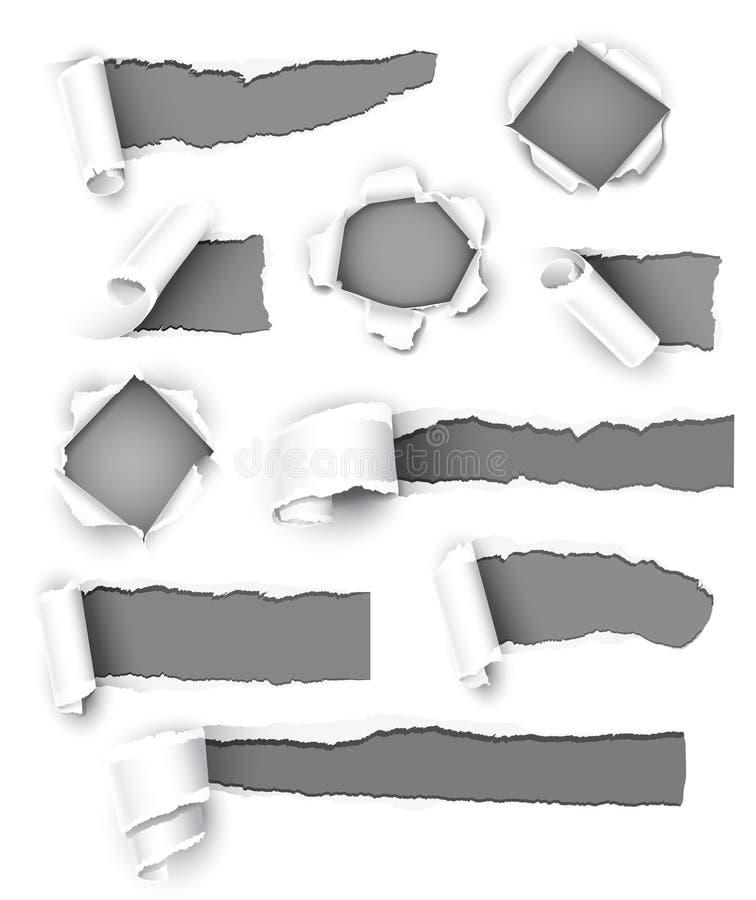 Papel gris stock de ilustración